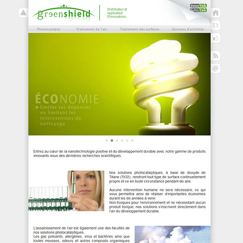 Webdesign / Greenshield
